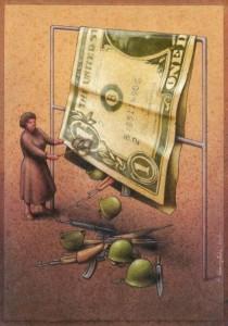 dinero armas